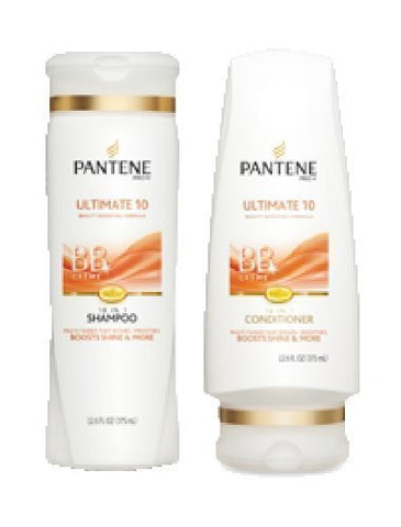 Pantene Pro-v Ultimate 10 Bb Shampoo & Conditioner Set, 12.6 Fl Oz Each