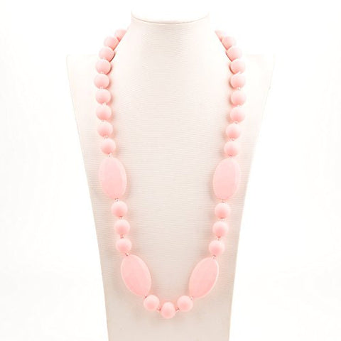 Consider It Maid Silicone Teething Necklace for Mom to Wear - FREE E-BOOK - BPA FREE and FDA Approved - Peas in a Pod (Rose Quartz)