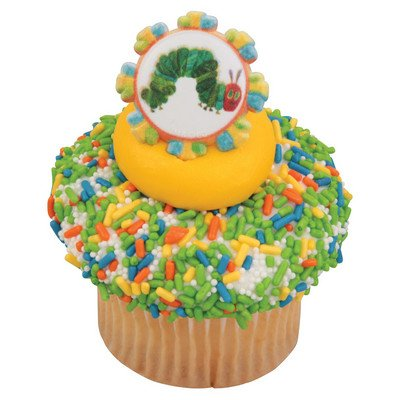 The Very Hungry Caterpillar Still Hungry Cupcake Rings - 24 pc