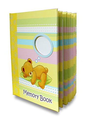 LittleLight Baby Memory Book for Boy or Girl, Journal and Baby Shower Gift, Baby First Year Book + BONUS