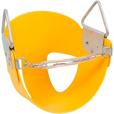 Swing Set Stuff Half Bucket Seat with SSS Logo Sticker, Yellow