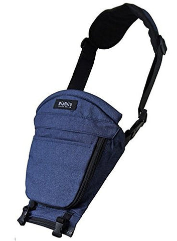 Miamily Hipster Single Shoulder Accessory only Swiss Brand - Approved by Global Wide Safety Standards - 3 additional ways to carry baby - Fits all Sizes - Ergonomic Design (Dark Blue)
