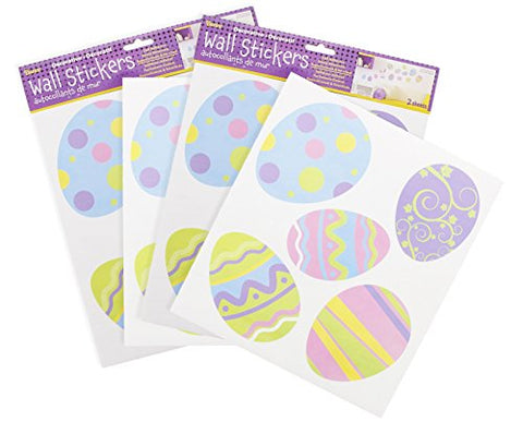 Easter Egg Removable Vinyl Decal Wall Stickers  Assorted Styles and Colors Easter Window Decal Home Decoration Wallpaper Room Office Dcor Stickers, - 20 Count Total