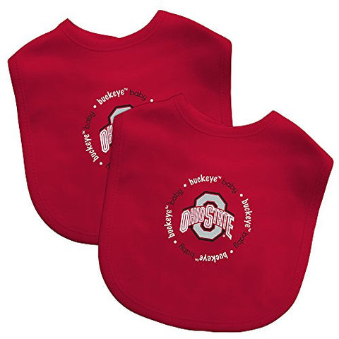 Baby Fanatic Team Color Bibs, Ohio State University, 2-Count