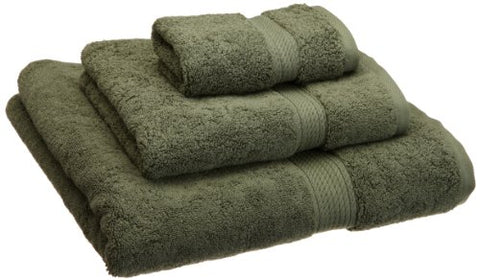 Superior 900 GSM Luxury Bathroom 3-Piece Towel Set, Made of 100% Premium Long-Staple Combed Cotton, Hotel & Spa Quality Washcloth, Hand Towel, and Bath Towel - Forest Green