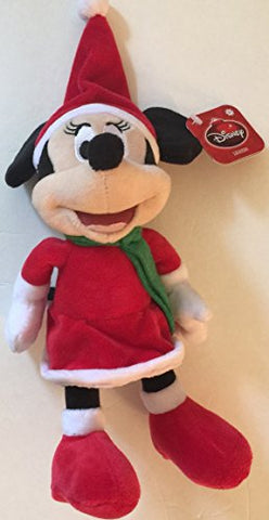 Minnie Mouse Christmas Plush Doll with Stocking Hat 10 Tall Disney