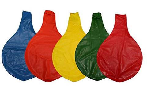 36 Inch Giant Latex Balloons Primary Assorted Colors (Premium Helium Quality) Pkg/5 Red, Orange, Yellow, Green, Blue