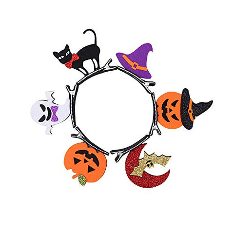 Lionsoul Halloween Hair Clips Boppers, Party Favors Photo Booth Props for Kids Girls and Women (6 PCS)