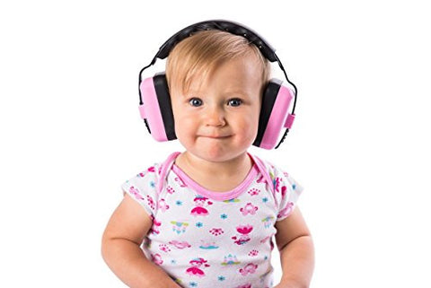 Little Llama Ear Muffs for Babies 6 months to 4 years old Hearing Protection Ear Muffs - Super Comfortable Noise Reduction and Ear Protection for your Infant Toddler and Child - Pink