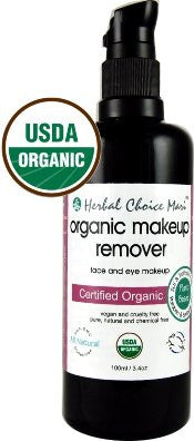 Herbal Choice Mari Organic Makeup Remover 100ml/ 3.4oz Glass Pump Bottle