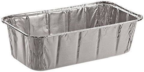 Sherri Lynne Home Disposable Aluminum Foil 2Lb Loaf Pans and Bread Tins, Standard Size - 8.5  X 4.5  X 2.5 ,