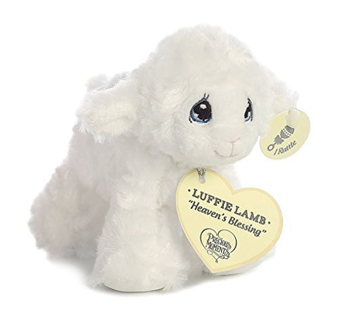 Precious Moments Luffie Lamb Heaven's Blessing Rattle (White)