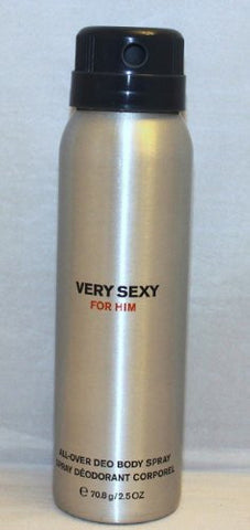 Victoria's Secret Very Sexy for Him All Over Deodorant Body Spray TRAVEL SIZE 2.5 oz