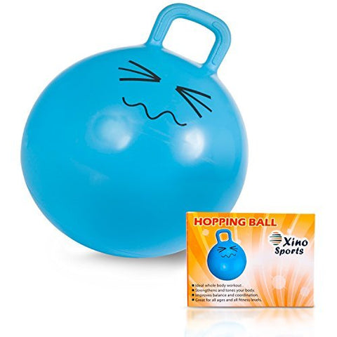 Deluxe Hopping Ball for Kids, Teenagers and Adults, Offers Hours of Incredible Fun for Boys and Girls, Amazing Space Hopper Ball, Safe and Durable Jumping Ball with Handle, 22 Inch Diameter