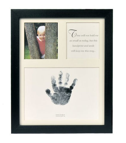 The Grandparent Gift Co. Baby Keepsakes Little Hands Handprint Frame, Black