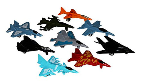 Metal die cast toy air plane set of military planes and jets..