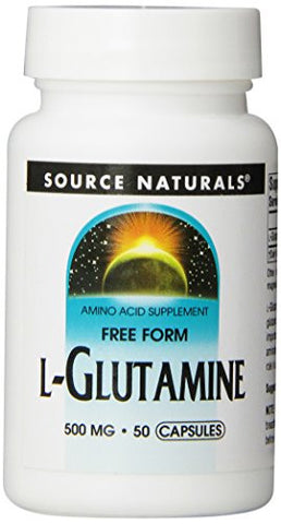 Source Naturals L-Glutamine 500mg, Plays an Important Role in Ammonia Disposal, 50 Capsules