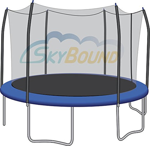 SkyBound Trampoline Net Fits Round 15 Ft. Frames Fits Multiple Universal Poles