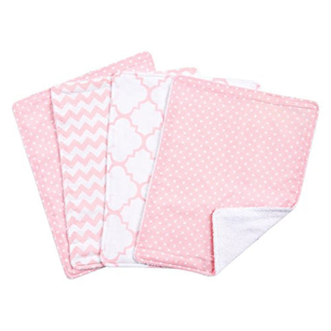 Trend Lab Sky Burp Cloth Set, Pink