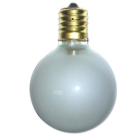 String Light Company C90012F Frosted G50 Globe String Light Bulb with E17 Base, 7-Watt