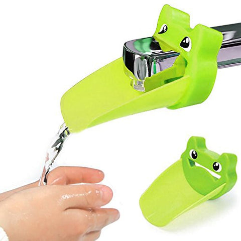 Faucet Extender for Helps Toddler Kids Sink Handle Extender Hand Washing Perfect for Bathroom Kitchen (green)