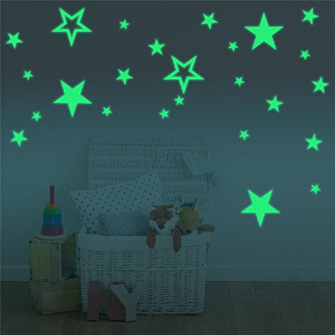 Marsway Creative Stars Night Glow Sticker Night Luminous Glow in the Dark Kids Room Wall Decal Stickers