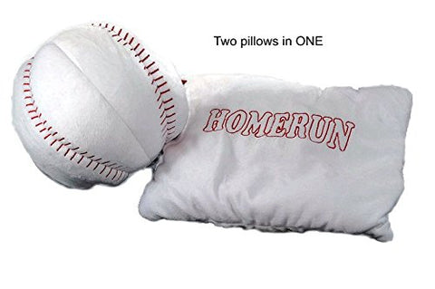 Plush Transformer Sports Pillow and Ball Soft Stuffed Decorative Cushion Toy (Baseball)