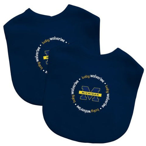 Baby Fanatic Team Color Bibs, University of Michigan, 2-Count