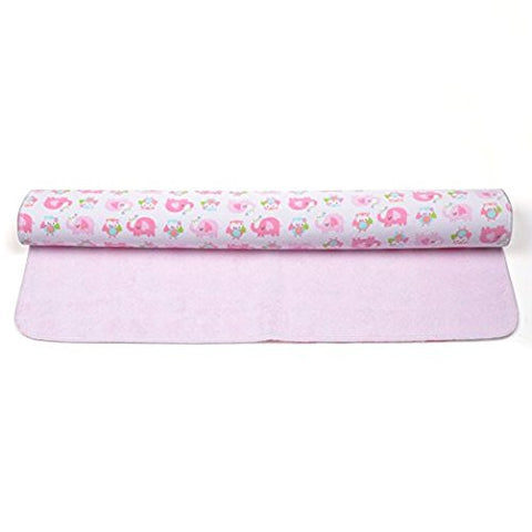 KLOUD City Baby Waterproof Washable Diaper Changing Mat Pad (Pink 27.5x31.5 inch)