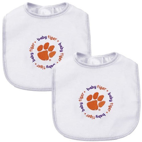 Baby Fanatic Team Color Bibs, Clemson University, 2-Count