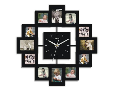 Creative Motion 12-Photo Frame and Clock