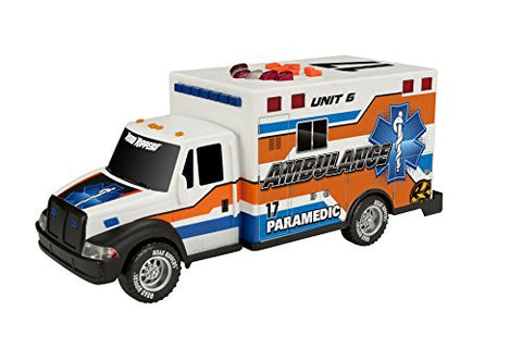 Toy State 14 Rush And Rescue Police And Fire - Ambulance (Colors May Vary)