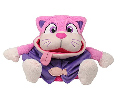 Lullabrites Tummy Stuffers 15  Pink Cat in Open Box Doll As Seen on TV Plush