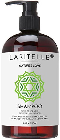 Laritelle Organic Shampoo 17 oz. Keratin, Rosemary, Grapefruit. Promotes Hair Growth, Prevents Hair Loss. GF