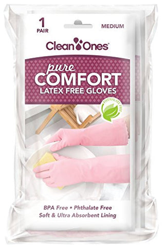 Clean Ones Pure Comfort Latex Free Vinyl Gloves - 2pr (Medium