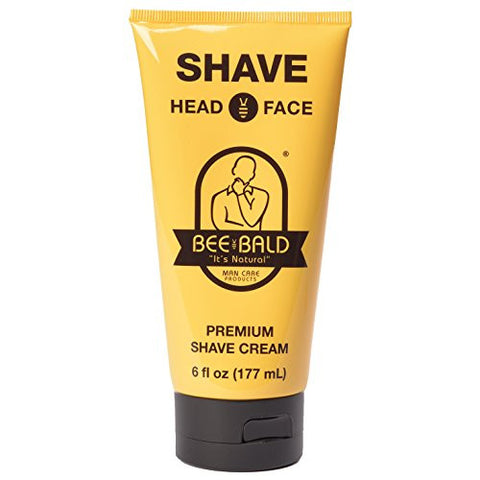 Bee Bald Shave for Head and Face, 6 fl. oz.