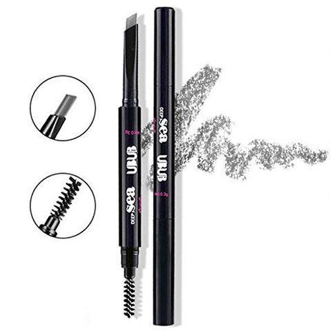 HeyBeauty Eyebrow Pencil with Brow Brush, Waterproof Automatic Makeup Cosmetic Tool, Grey-1#
