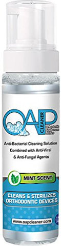 OAP Cleaner - Jumbo Bottle - 207ml,- The Only Anti-bacterial, Anti-viral and Anti-fungal Cleaner That Cleans All Removable Dental and Ortho Appliances in 60 Seconds or Less - 6 Months Supply