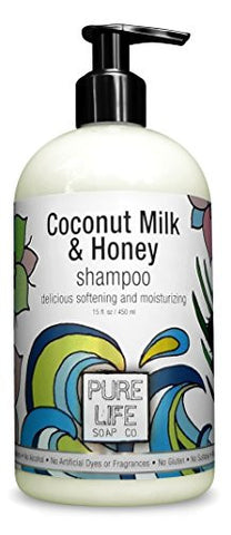 Pure Life Soap Shampoo, Coconut Milk and Honey, 15 Fluid Ounce