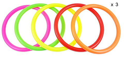 Ujoy Multicolor Plastic Toss Rings For Speed And Agility Training Games (3.94)