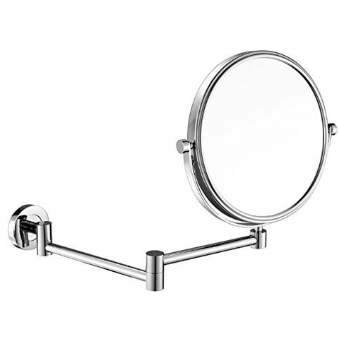 GuRun 8 Inch Two-Sided Swivel Wall Mounted Mirror Vanity Mirror with 7x Magnification,Chrome Finish M1305(8in,7x)