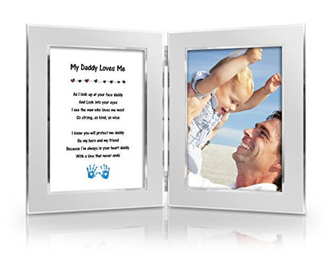 Best Christmas Gift to Father from daughter ,son, baby. Happy Fathers Day Card & Gift. Birthday, New Dad, Special Gift Anytime. Daddy & Me Gift. Delightful Poem + Favorite Photo = Custom Poetry Gift