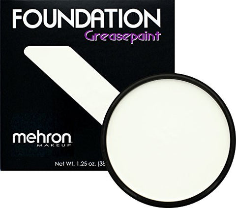 Mehron Makeup Foundation Greasepaint, WHITE – 1.25oz