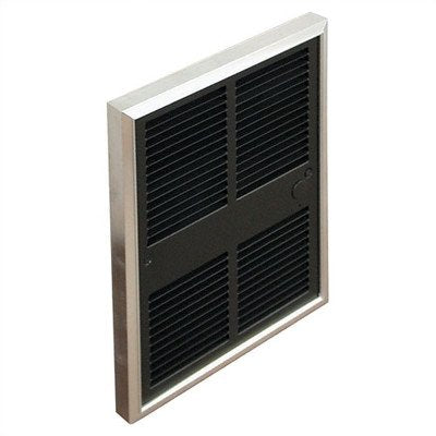 TPI H3052T2DWB Series 3000 Midsized Commercial Fan Forced Wall Heater with Tamperproof In-Built Double Pole Thermostat, 208/240V 1PH 8.3A