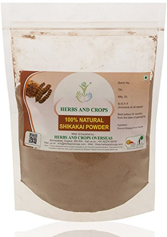 Herbs And Crops 100% Pure Natural Organically Grown Shikakai Powder (227g / (1/2 lb) / 8 ounces)