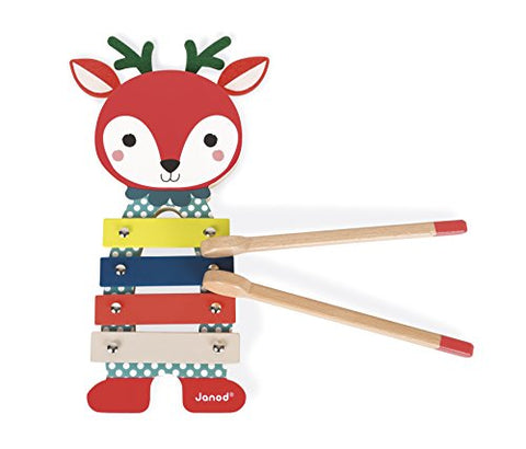 Janod Forest Fawn Metal Xylo Baby Toy