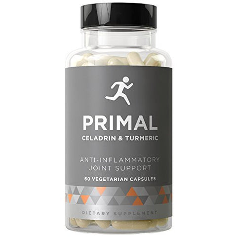 PRIMAL Joint Support & Anti-Inflammatory - Fight Flare-Ups, Swelling, Stiffness, and Whole-Body Inflammation - Celadrin, Curcumin, Boswellia - 60 Vegetarian Soft Capsules