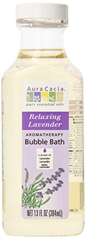 Aura Cacia Aromatherapy Bubble Bath, Relaxing Lavender, 13 fluid ounce bottle