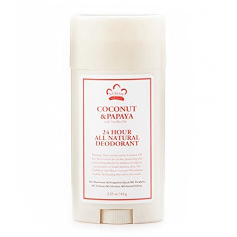 Nubian Heritage/Sundial Creations 24 Hour Deodorant, Coconut/Papaya with Vanilla Oil