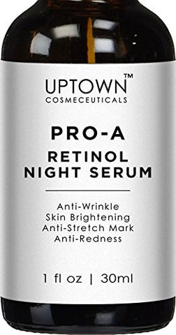 Uptown Cosmeceuticals Pro-A Retinol Serum - Anti Aging Face Serum, Helps Reduce Appearance of Wrinkles, Stretch Marks and Redness, 30 ml